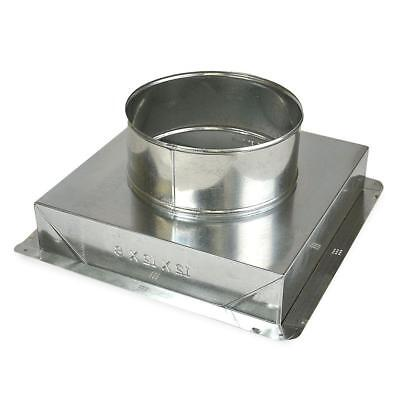 Master Flow 8 in. x 8 in. to 6 in. Ceiling Register Box
