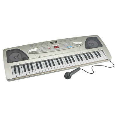 Zennox Electric Keyboard Digital Music Piano 54 Keys Instrument Microphone NEW