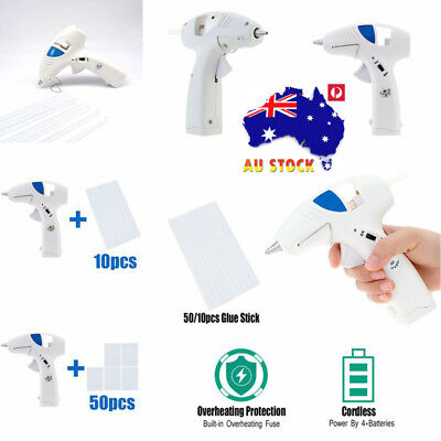 10W Glue Gun Cordless Electric Craft Heating Melt Scrapbook 10/50pcs Glue Sticks