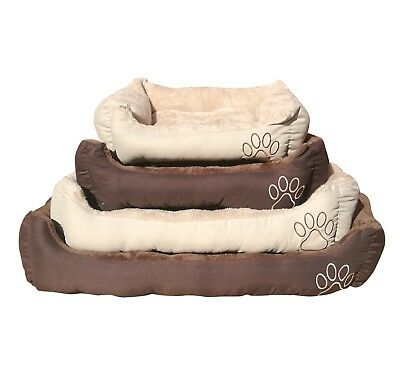 Heritage Premium Deluxe Soft Dog Bed Pet Warm Basket Cushion with Fleece Lining