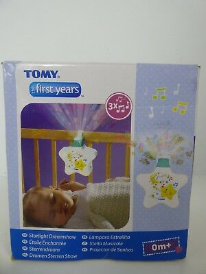 Tomy Starlight Dreamshow Baby Night Light White Ceiling Projector Lullaby EXDISP