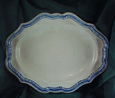 Plat Long Faience Xix  Sud France Moustiers Ou Bordeaux