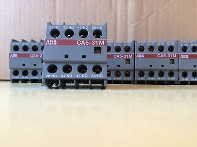 ABB CA5-31M Auxiliary Contact Block (Job Lot of 6)