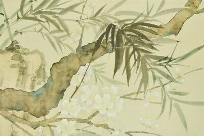 """Chinese Hanging Scroll 71.9"""" Panting Picture Plum Bamboo Art Antique China c143"""
