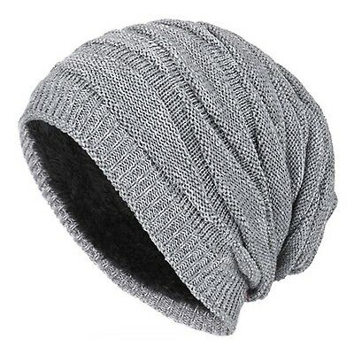 (Grey) - WETOO Stretch Slouchy Beanie Hat Winter Warm Hats Long Knit Skull Cap