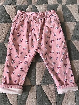 Little Girls Cath kidston /cath kids, Fine Cord Jeans,age 12/18 Months,exc Cond
