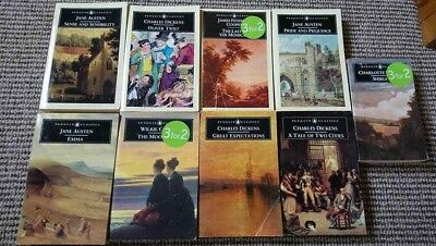 Job Lot of 9 Penguin Classics Paperback Books Collection Set Dickens Austen etc