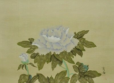 Chinese Hanging Scroll Painting peony China Asian Art 肖雨 Picture Antique b012