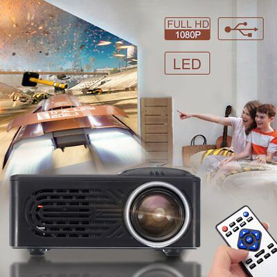 7000 Lumens 1080P LED Portable Projector Multimedia Home Theater Cinema Video FT