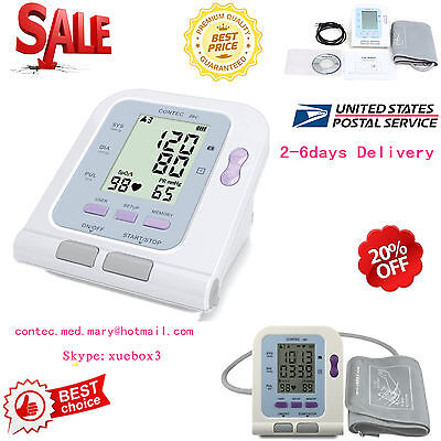 LCD Digital Blood Pressure Monitor Heart Rate Beat Pulse Meter Measure