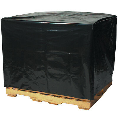 "Box Partners Pallet Covers 2 Mil 48"" x 46"" x 72"" Black 50/Case PC547"