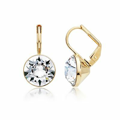 0515c86aa MYJS Bella Mini Earrings made with Clear Swarovski Crystals 16k Gold Plated