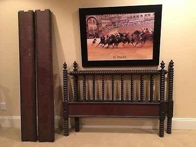 Rare Antique Jenny Lind Spool Bed Frame (Full) W/ Hardware - circa early 1900's
