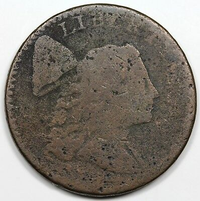 1794 Liberty Cap Large Cent, Head of '94, rare S-36, R.5, AG-G detail