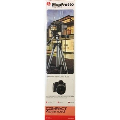 Manfrotto MKCOMPACTADV-BK Compact Advanced Aluminum Tripod Black