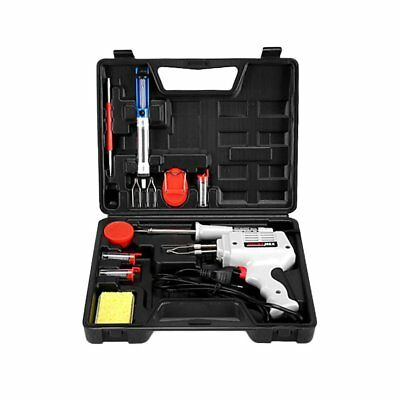 12in1 100W HEATING ELECTRIC ELECTRICAL SOLDER SOLDERING IRON GUN KIT 240V KIT FT