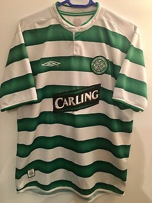 Genuine Authentic Celtic Football Soccer Home Shirt Adult Large 2003/2004