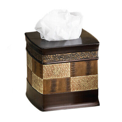 Popular Bath Zambia Copper Collection - Bathroom Tissue Box Cover