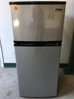 Magic Chef 43 Cu Ft Two Door Stainless Steel Compact Refrigerator