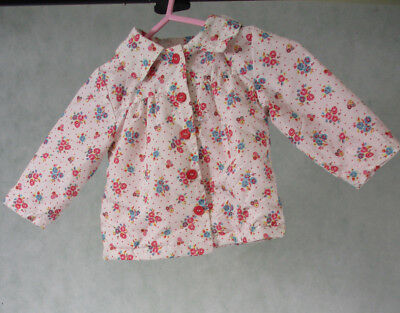 Girls Light Pink Hooded Jacket with Floral Design by TU 6 - 9 months
