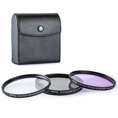 55mm 3-Piece Multi-Coated HD UV / CPL / FLD Filter Set 55mm by ULTIMAXX New