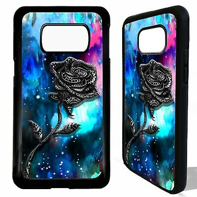 Rose flower roses print pattern case cover for Samsung Galaxy S6 S7 S8 S9 plus