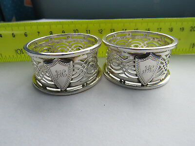 Two Antique Solid Silver Napkin Rings