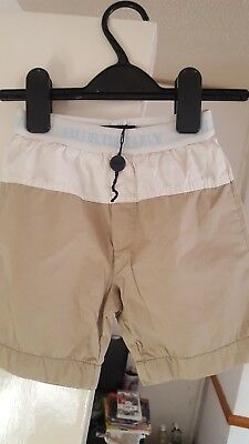 Boys beige and cream burberry shorts age 2 years!
