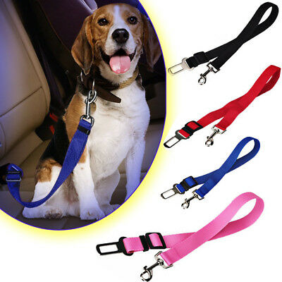 Pet Dog Adjustable Harnesses Seat Belt Lead Restraint Strap Car Safety Clip UK
