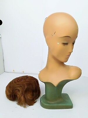 Antique German Art Deco Mannequin head wig stand Bauhaus Mid Century Décor