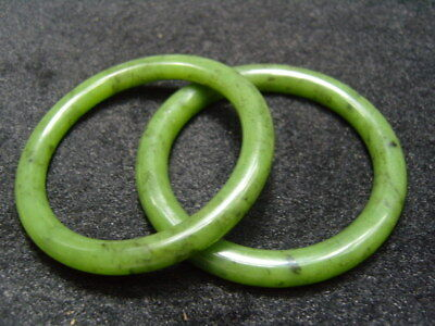 Pair FINELY CARVED CHINESE Jade bracelet