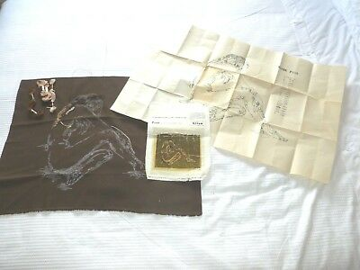 Vintage embroidery kit by Wm Briggs & Co - Elise - nude lady part worked