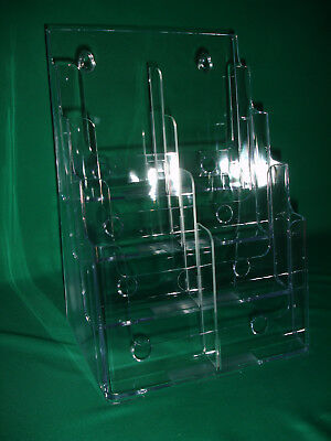 4 Tier Wall Mount/ Counter Top Brochure Holder Pack of 2