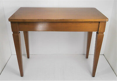 Vintage Antique Wooden Wood Piano Bench Stool Bench w/ Storage