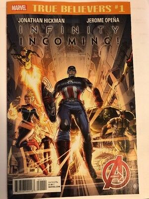 TRUE BELIEVERS INFINITY INCOMING #1 Marvel Comics 4/18/18 Avengers NM