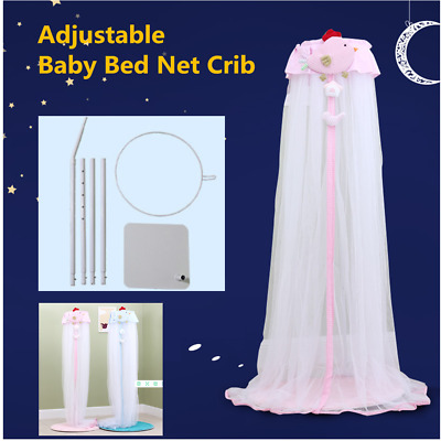 Baby Mosquito Net Baby Toddler Bed Crib Dome Canopy Netting with Holder Stand