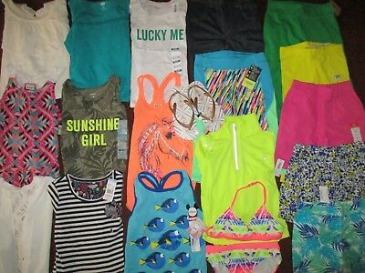 NEW! Girls Size 5 SPRING SUMMER SCHOOL Lot Name Brand Clothes Outfits  NWT'S