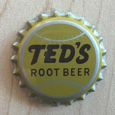Vintage 1950s TED'S ROOT BEER Bottle Cap TED WILLIAMS