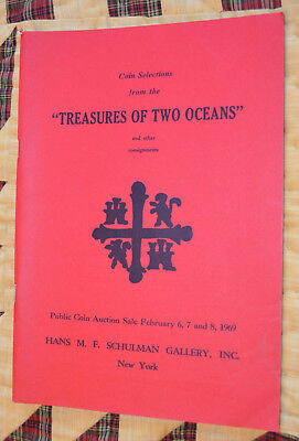 "Hans Schulman coin catalog ""Treasures of Two Oceans"" 1969, gold, silver, Asian"