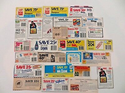 Vintage Store Coupons Diapers & Paper Goods, Cleaning, Pampers, Charmin + 1980's