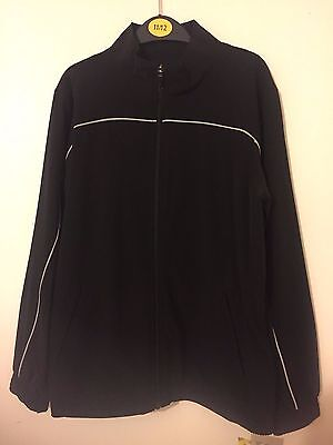 Branded Kids Performance Track Top in Black Size 11-12YR RRP £20