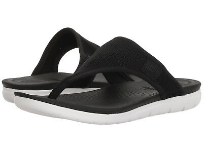 478662f30fbdac Women FitFlop Uberknit Flip Flop Sandal M46-001 Black 100% Authentic Brand  New