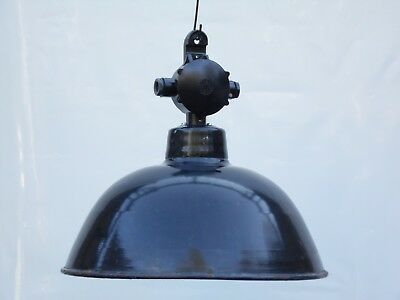 Emaille Fabriklampe LBD Lampe 38 cm Emaillelampe Email Fabriklampe Industrie