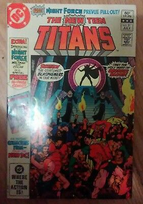 New Teen Titans Vol 1 #21 (1982) 1st Brother Blood Monitor VF+ Combined P&P