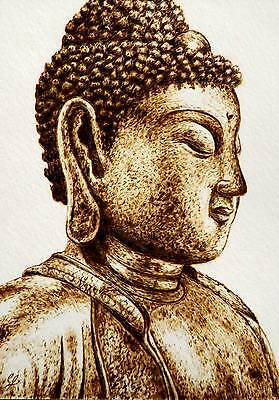 Eastern Horizons- Pyrography Drawing Of Buddha- The Art Of Drawing With Fire