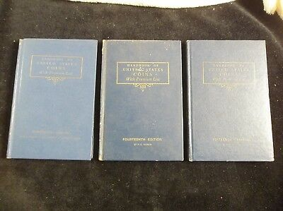 Handbook of United States Coins by R.S.Yeoman 13th, 14th, 15th editions (3)books