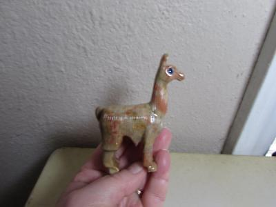 Llama, Hand carved Marble from the Andes of Peru Rich colored Stone Llama Unique
