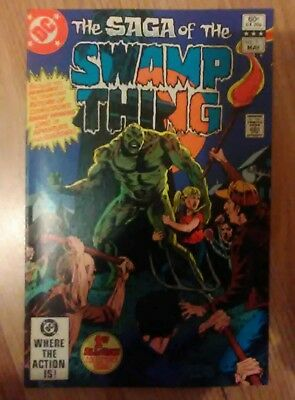 Swamp Thing Vol 2 #1 (1982) Giordano Yeats Pasko VF+ Combined P&P Available