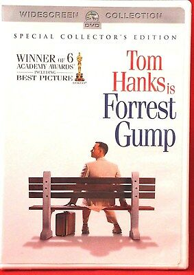 FORREST GUMP Special Collectors Edition (Widescreen DVD 2001)-Tom Hanks LIKE NEW