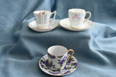 Vintage, collectible bone china teacups, petite, great condition